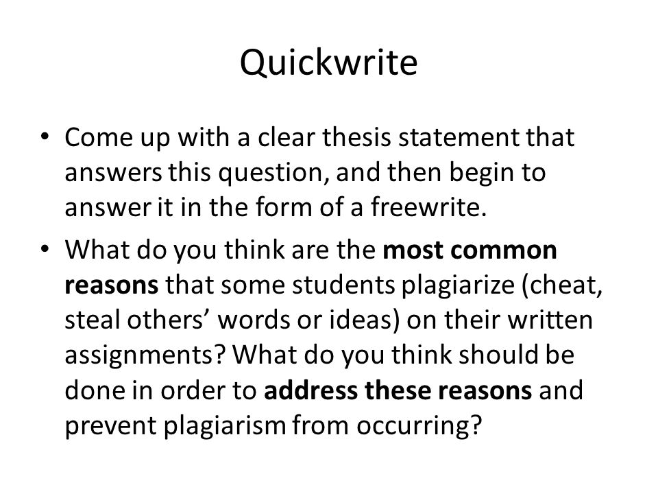 should a thesis statement be in the form of a question The reader in the case of most of your rbc assignments will be your instructor   statement o put your thesis in the form of a question, but then turn it pack into a.