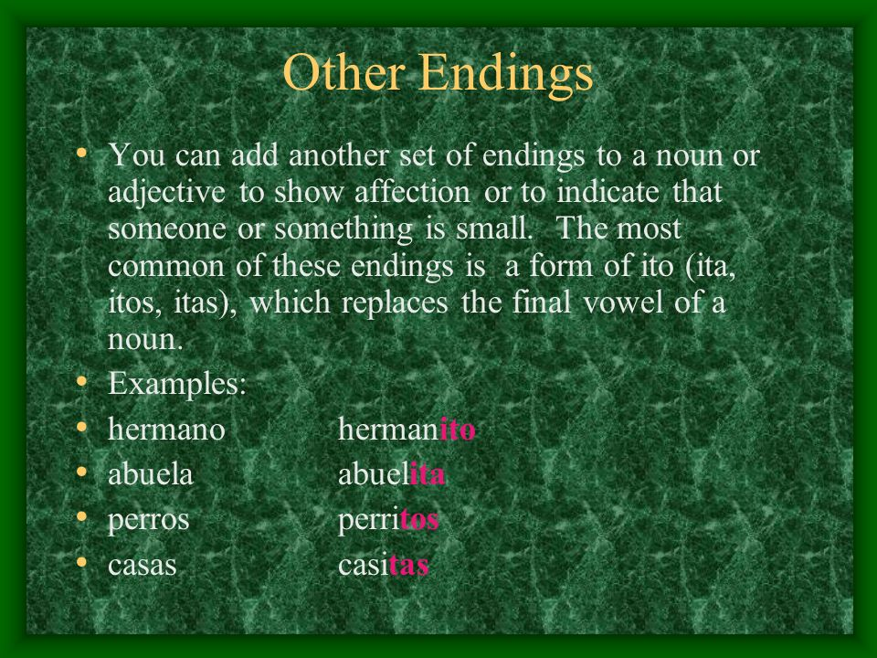 Other Endings