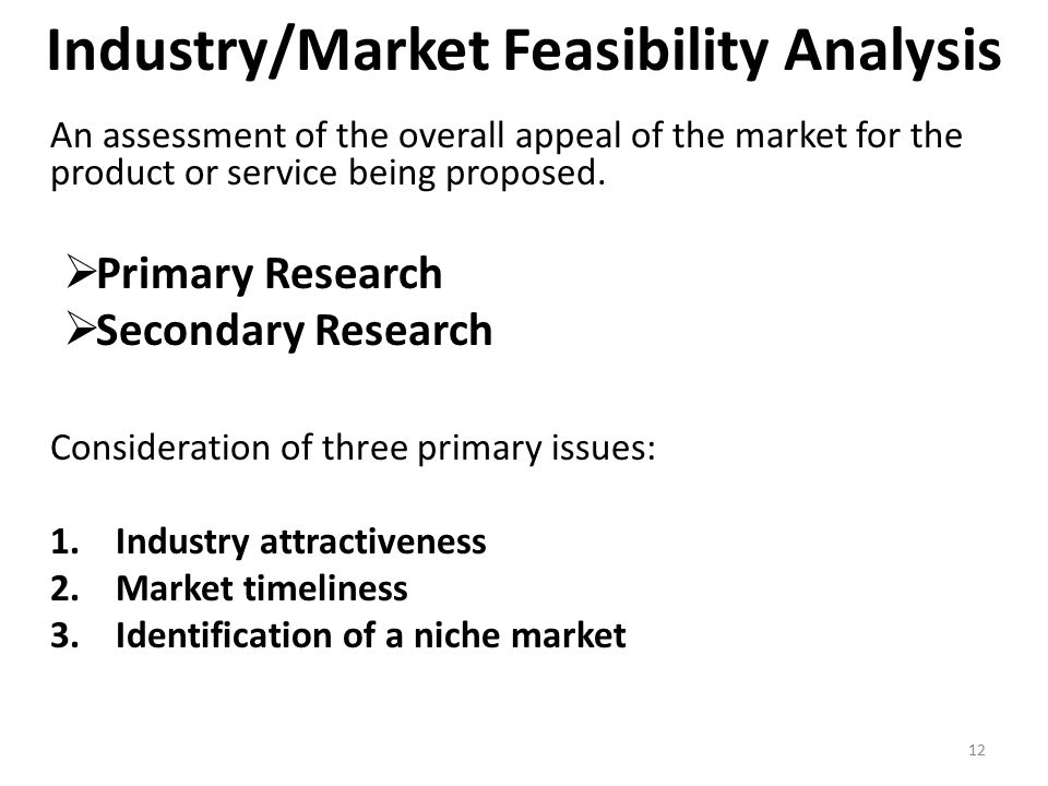 CONDUCTING A FEASIBILITY ANALYSIS - ppt download