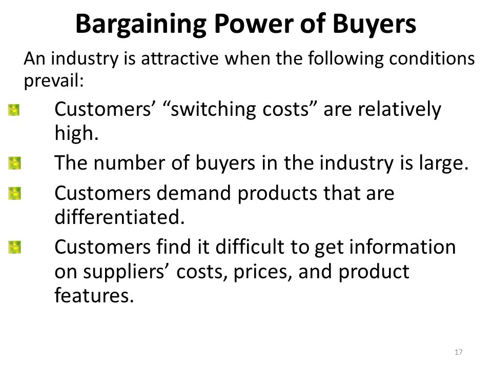 bargaining power of buyers coffee industry Green mountain coffee roasters and keurig coffee  higher demand and prices for premium coffee bargaining power of buyers:  leader in specialty coffee industry.