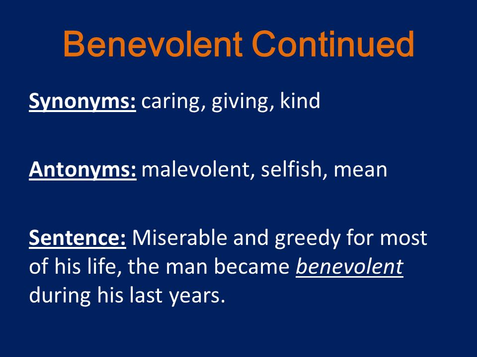 much what is the antonym for benevolent chemotherapy, with without
