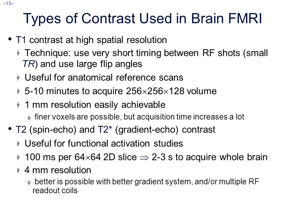 Afni fmri introduction concepts principles ppt download Types of contrast
