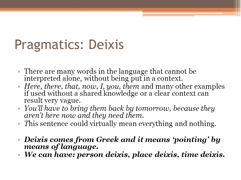 deixis and definiteness I've been trying to understand an answer from another se site (japanese language & usage) where the answer involves the differences between anaphora and deixis.