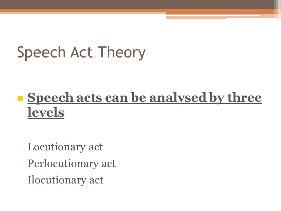 Act austin speech thesis