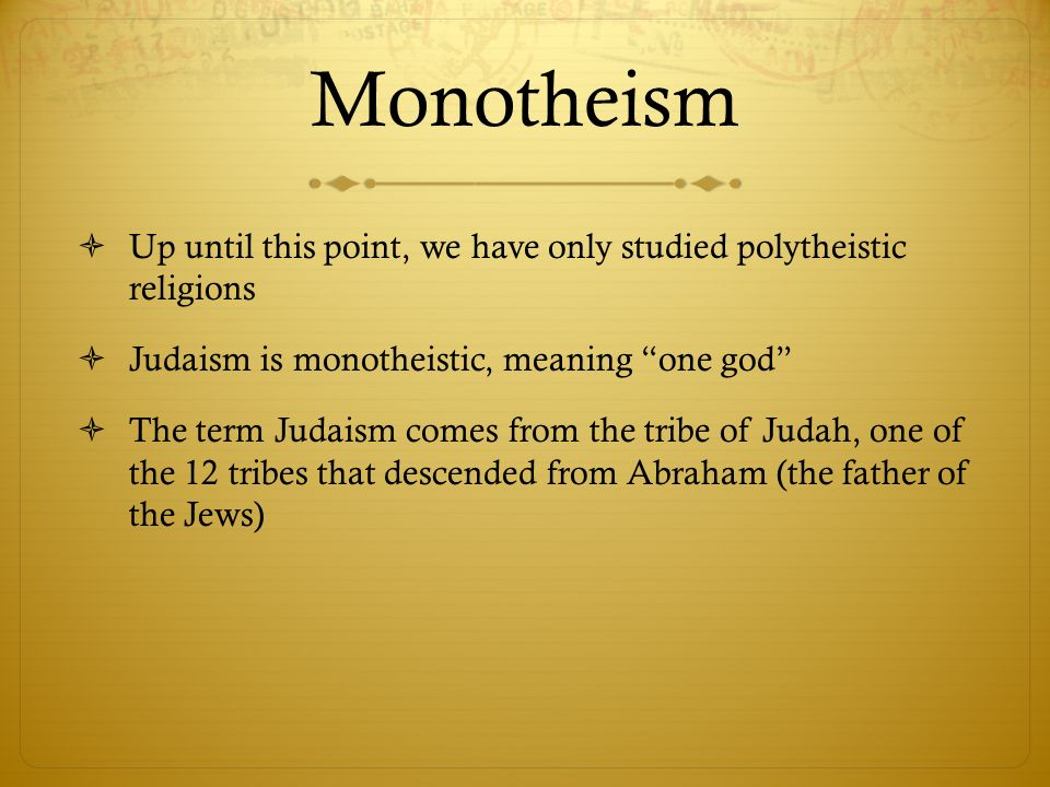 significance of hebrew monotheism In judaism god has been conceived in a variety of ways according to the  rationalist stream of  jewish monotheism thinks of god in terms of definite  character or personality, while pantheism is content with a view of god as  impersonal.