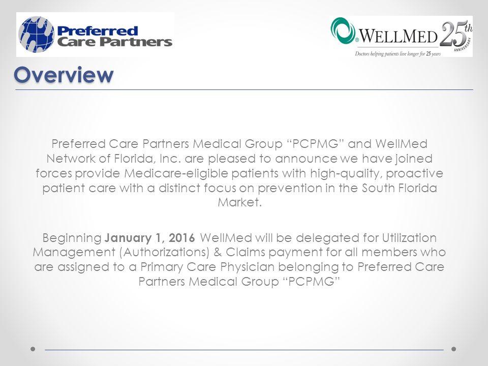 Preferred Care Partners Medical Group WellMed Medical Management ...