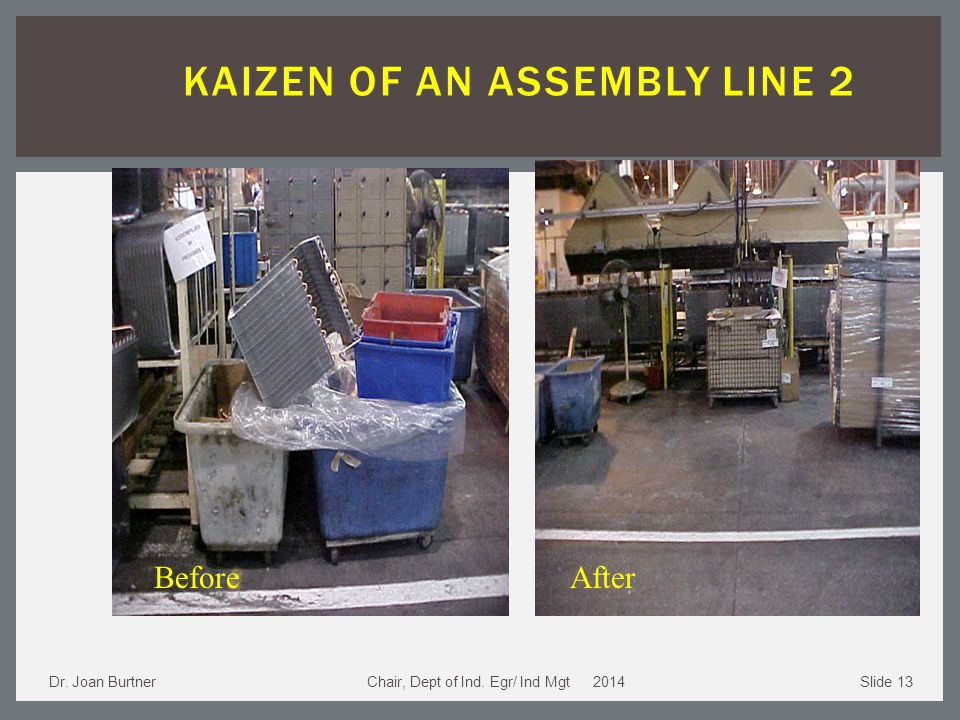 Team Approach in an Assembly Line Job