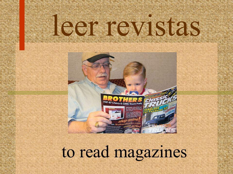 leer revistas to read magazines