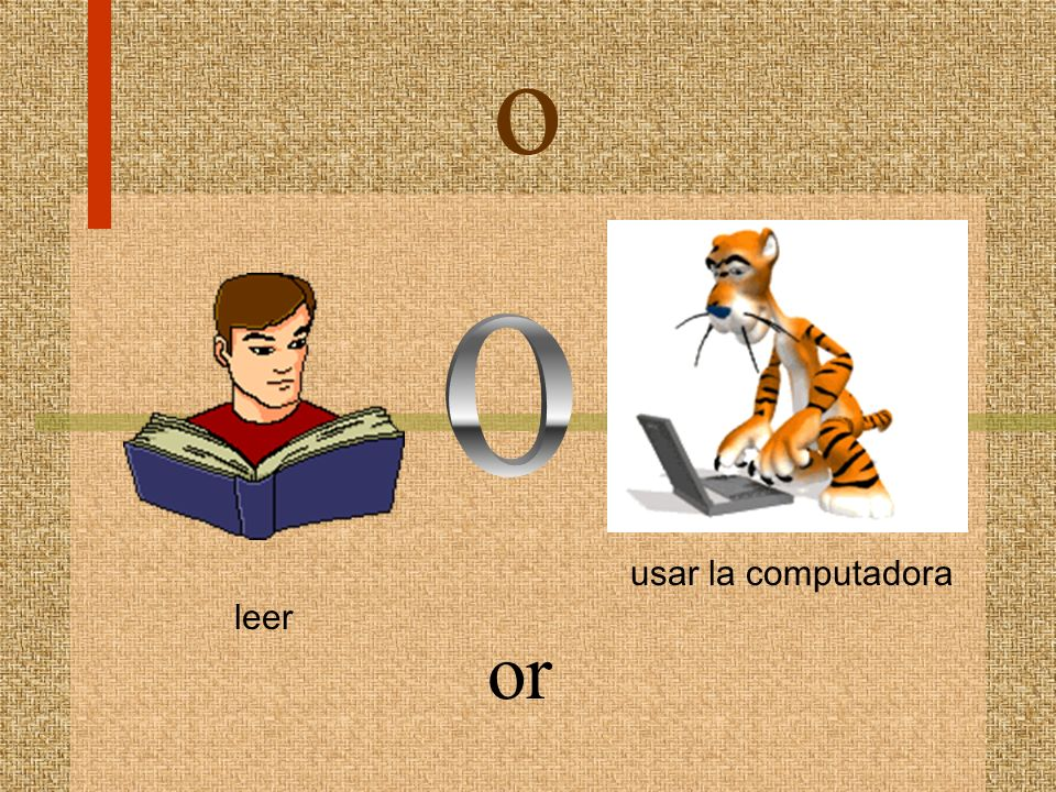 o usar la computadora leer o or