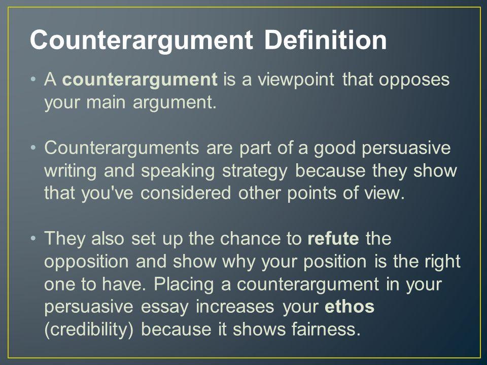 counter argument in persuasive essay