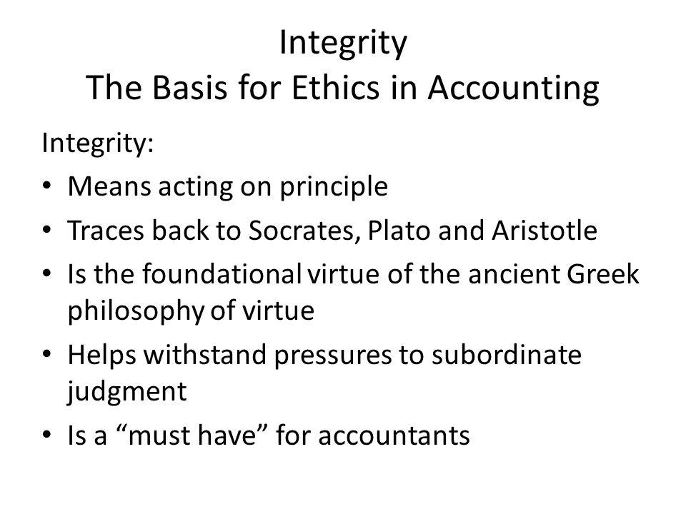 Integrity in Business and Society