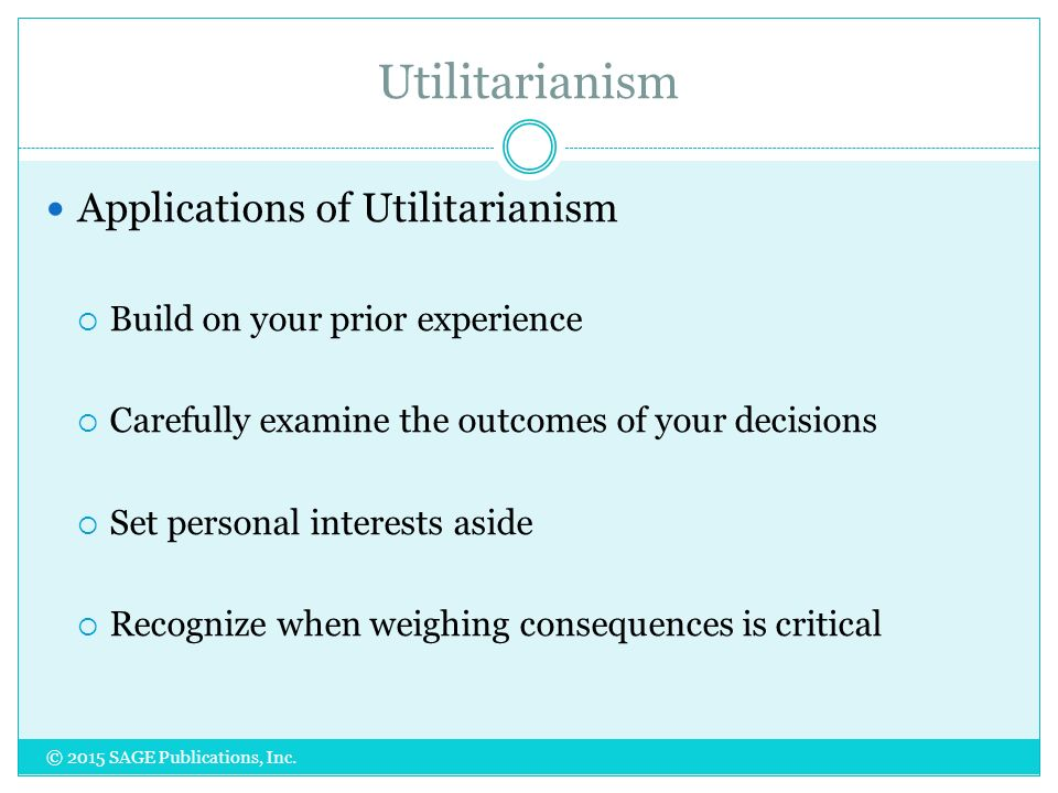 conclusions to utilitarianism Lives in the balance: utilitarianism  lives in the balance: utilitarianism and animal  that they should be expected to reach substantially concordant conclusions.