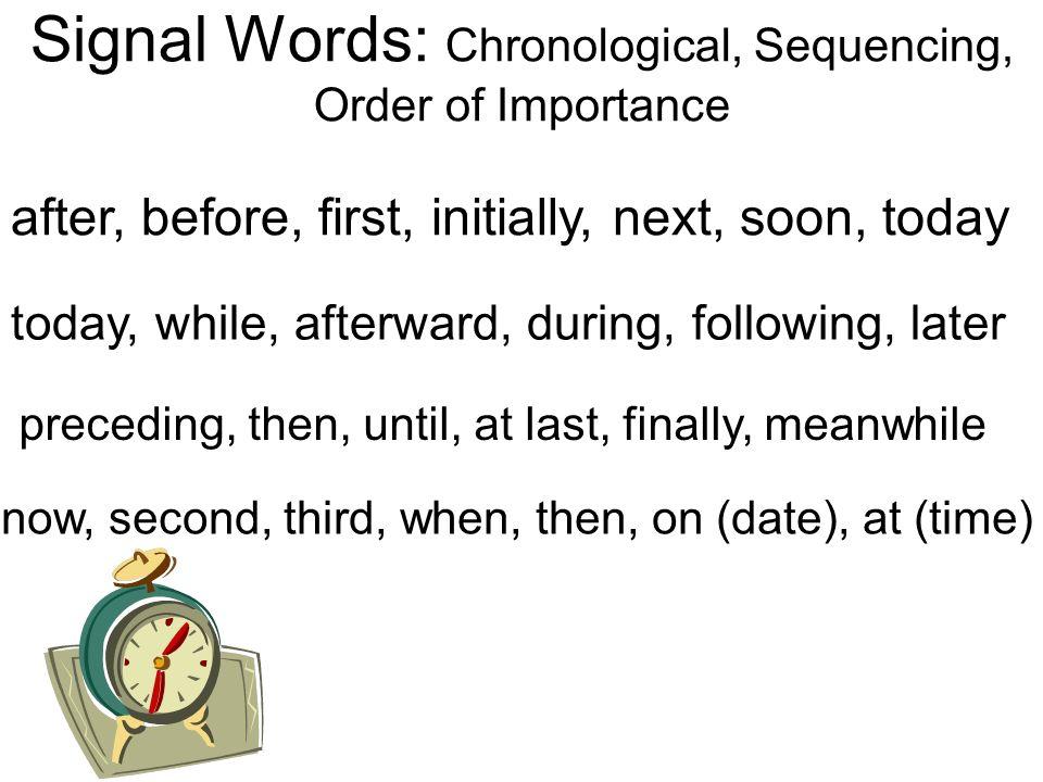 chronological words