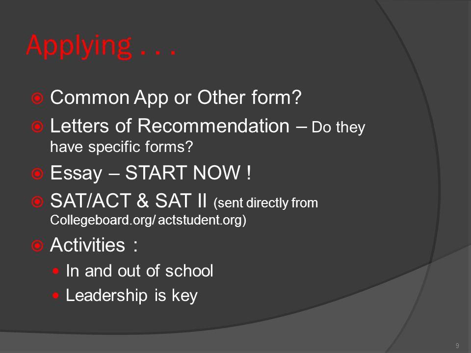 online college essay format