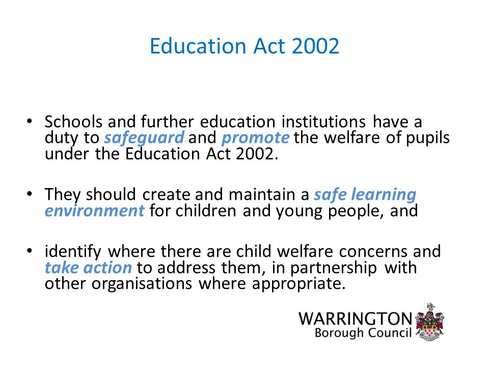 safeguarding the welfare or children and Assignment 008 safeguarding the welfare of children and young people task a 1 the children act 1989 - 2004 is the most relevant legislation for safeguarding children and young people's welfare it was first made to give boundaries and support for local authorities for the welfare of children.