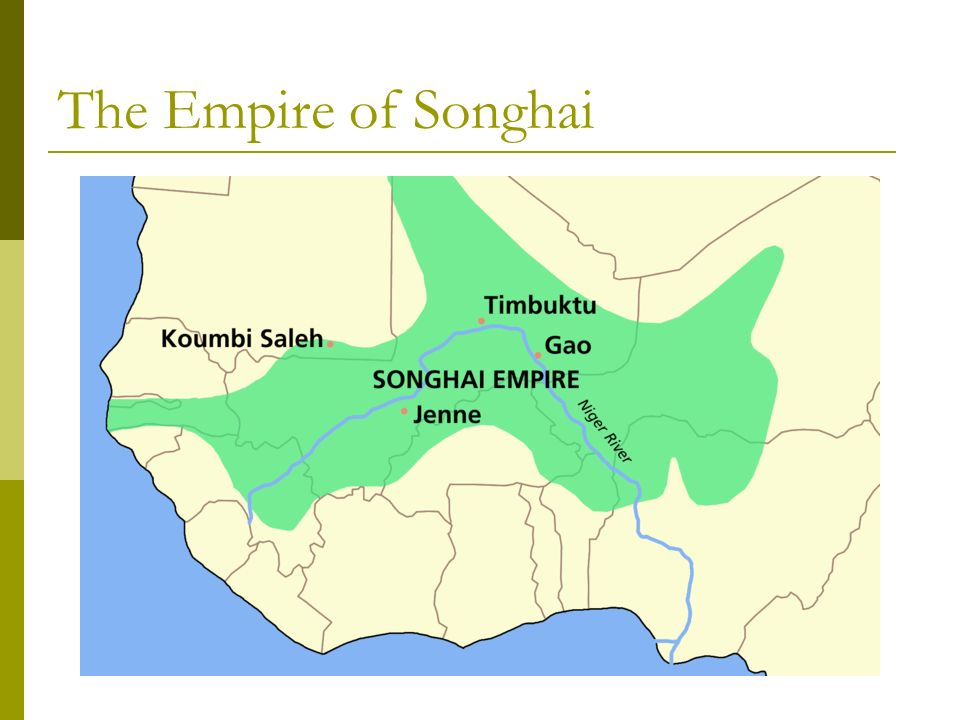 The Empire of Songhai. - ppt video online download on map of mali kingdom, map of ghana kingdom, map of axum kingdom, map of benin kingdom, map of kongo kingdom, map of khmer kingdom, map of persian kingdom, map of kazakh kingdom, map of aztec kingdom, map of kush kingdom, map of armenian kingdom, map of hebrew kingdom, map of tamil kingdom,