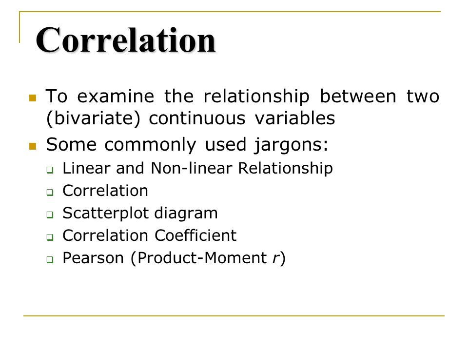 non linear relationship between two variables in statistics