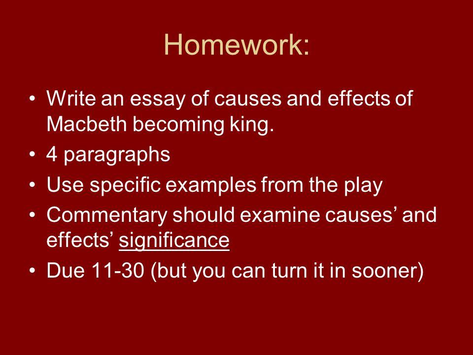 macbeth cause and effect essay List of 10 possible questions on macbeth essay, essaybasicscom.