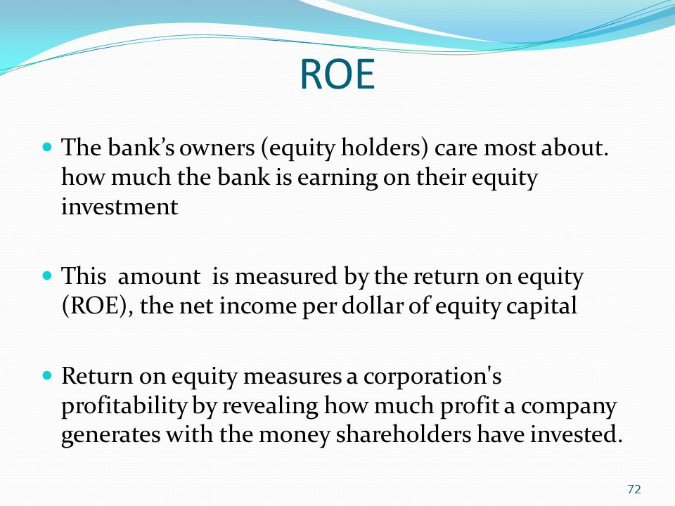 return on earning banking research Return on assets (roa): returns on asset ratio is the net income (profits) generated by the bank on its total assets (including fixed assets) the higher the proportion of average earnings assets, the better would be the resulting returns on total assets similarly, roe (returns on equity) indicates returns.