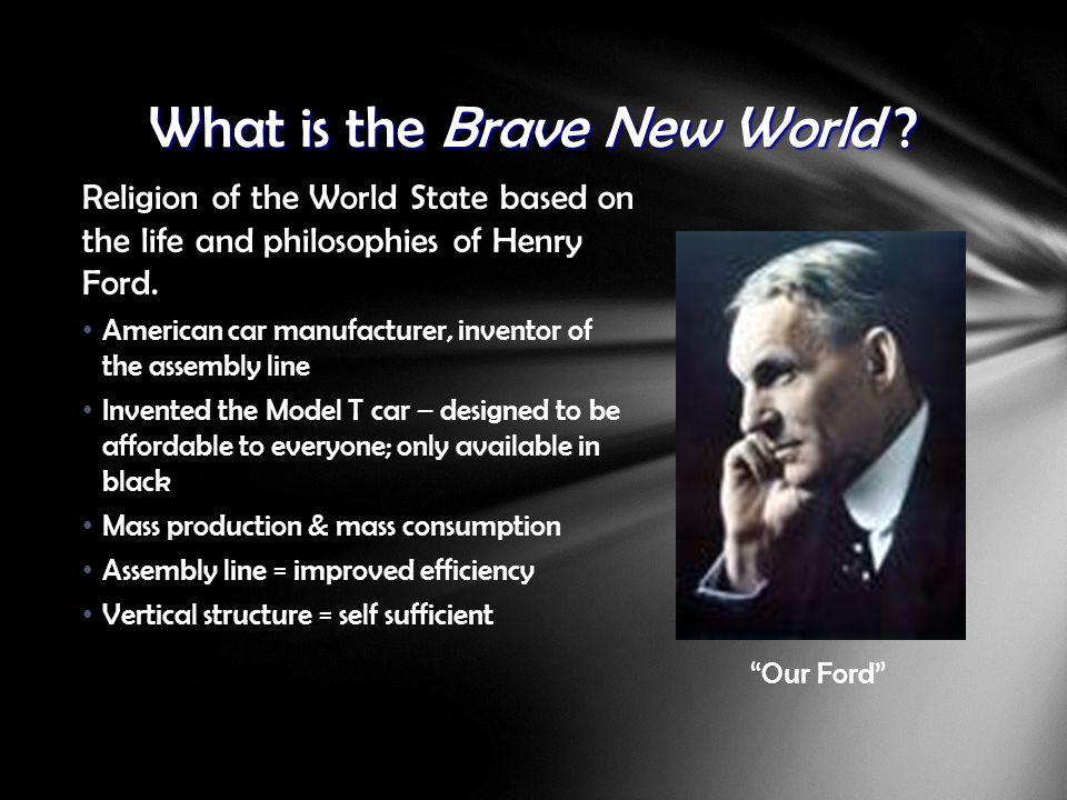 an analysis of the basis of religion in the brave new world How does aldous huxley's vision of a totalitarian future stand up 75 years after brave new world was in which everybody is happy now in religion and.
