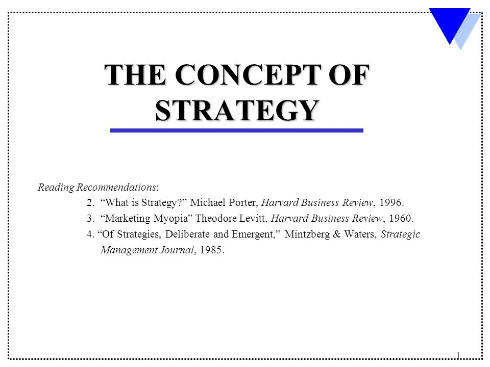 hbr porter 1996 what is strategy
