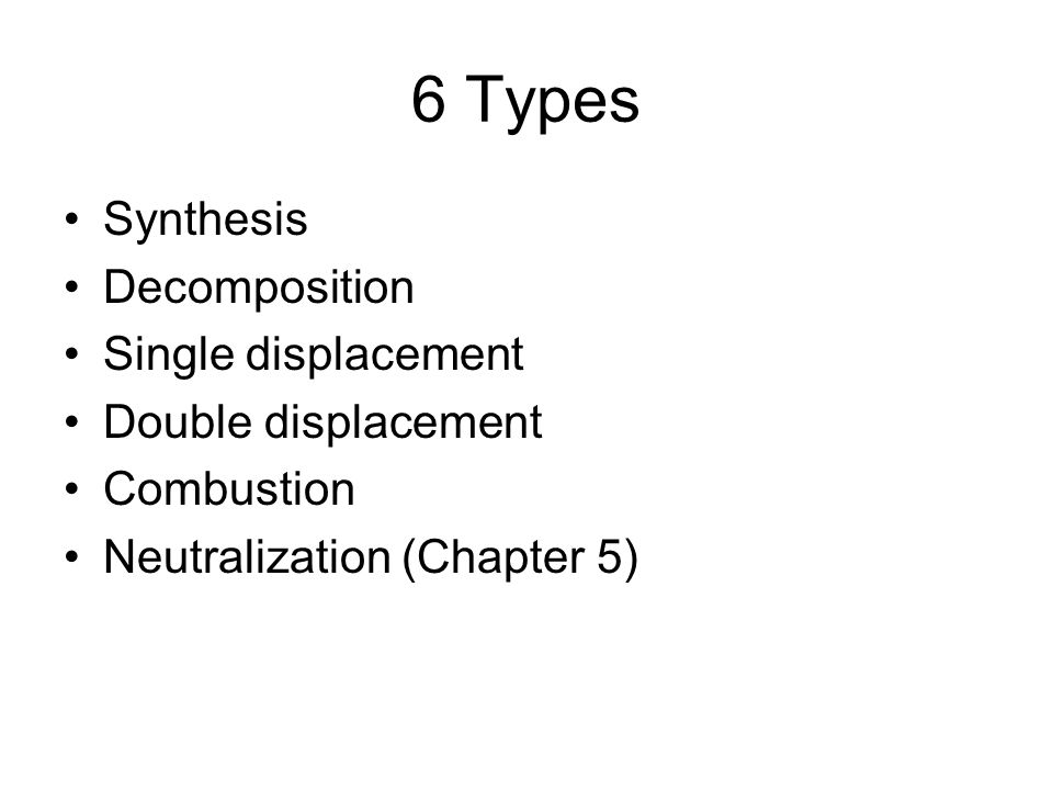 Types of Chemical Reactions ppt download – Synthesis and Decomposition Reactions Worksheet