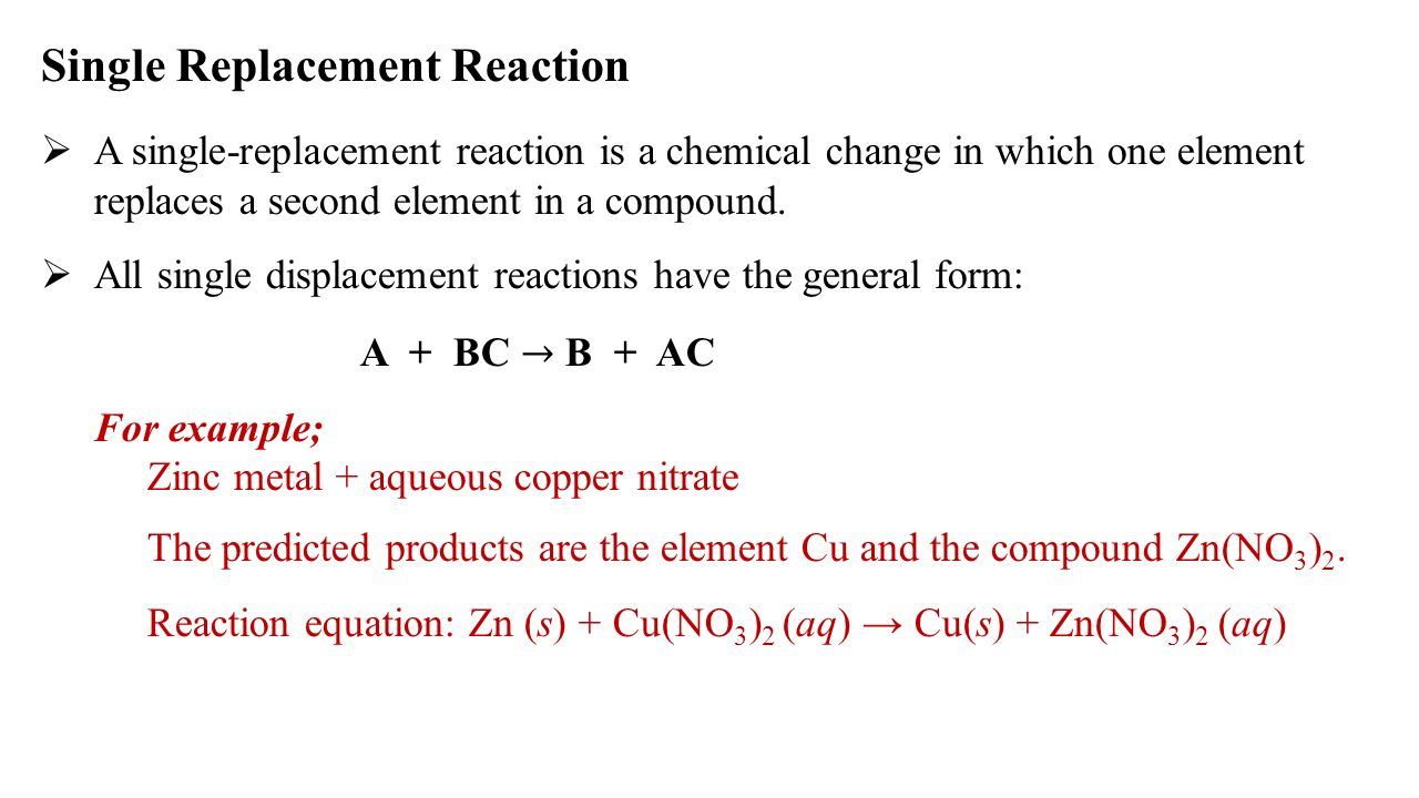 Single Displacement Equation Jennarocca – Single Replacement Reaction Worksheet