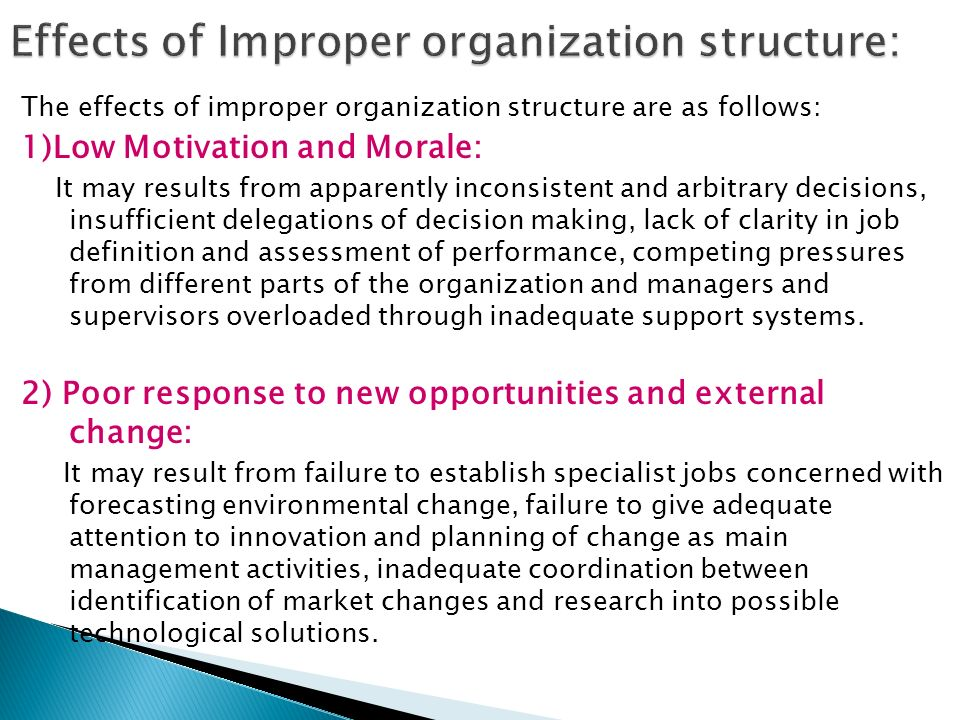 11 compare and contrast different organisational