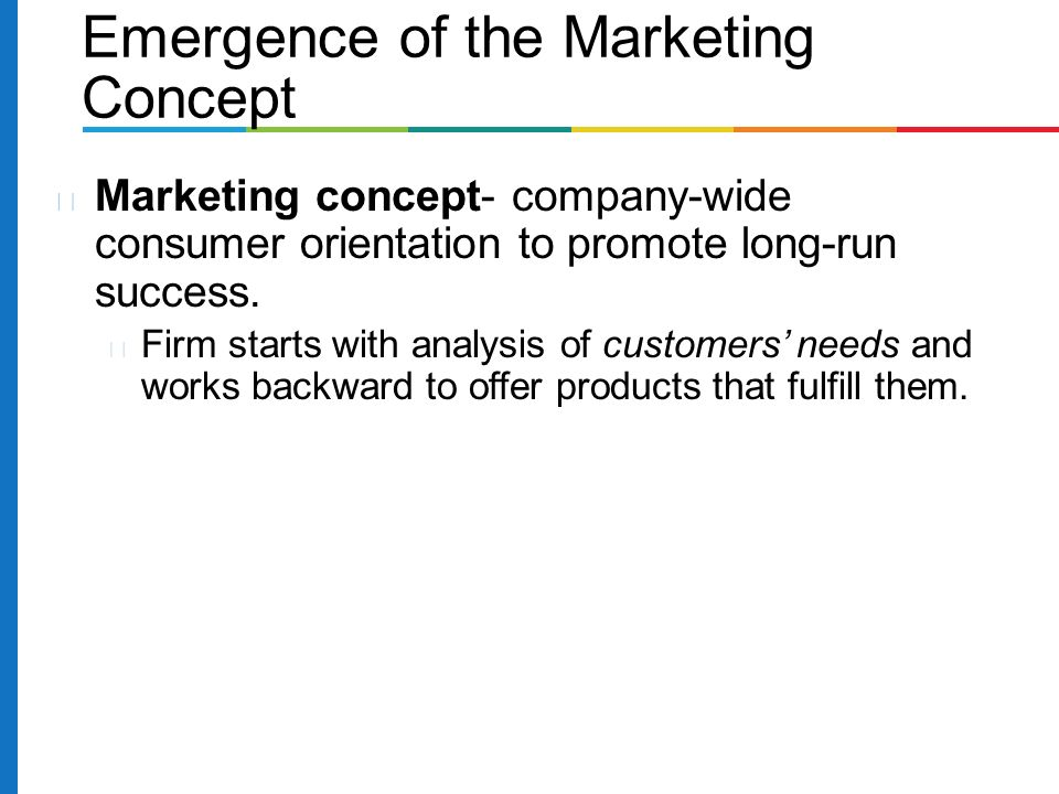 an analysis of the marketing concept and customer orientation Reflecting customer orientation marketing concept (ii) generation of scale items, data collection, measurement purification this paper examines the mktor and markor measures of market orientation using a confirmatory factor analysis.