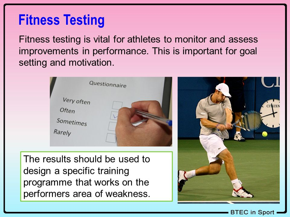 unit 6 asshnment 1 fitness testing Fitness testing in sport unit 7: fitness testing for sport and exercise assignment 1: laboratory and field based fitness tests: new page about.