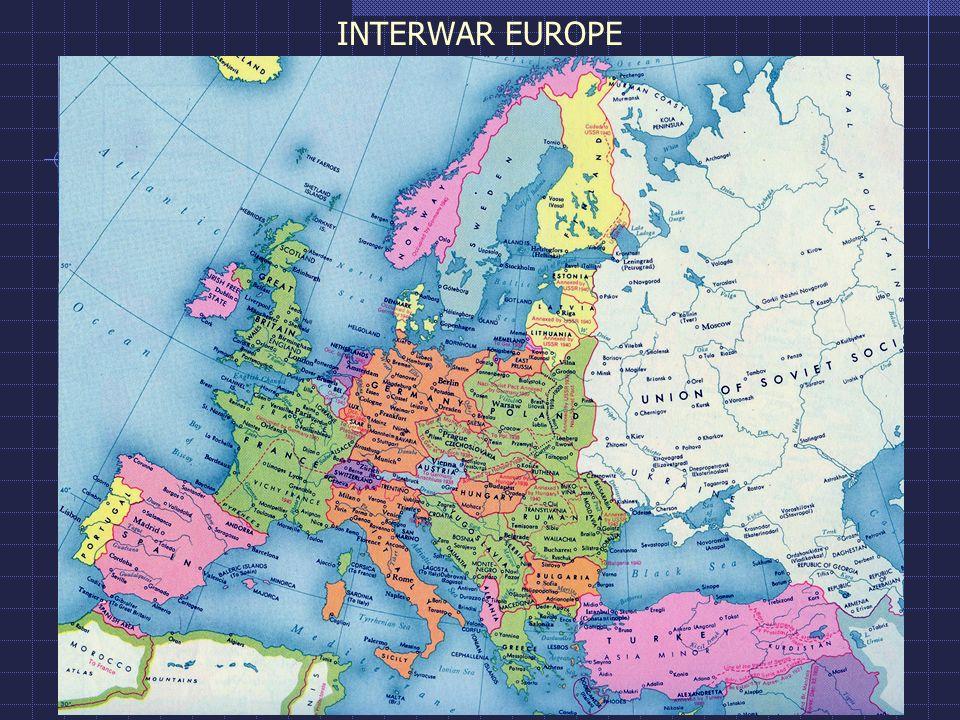 Interwar Europe Map.Interwar Europe Interwar Europe Ppt Video Online Download