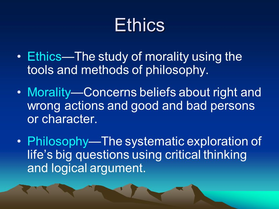 Right and wrong ethics philosophy