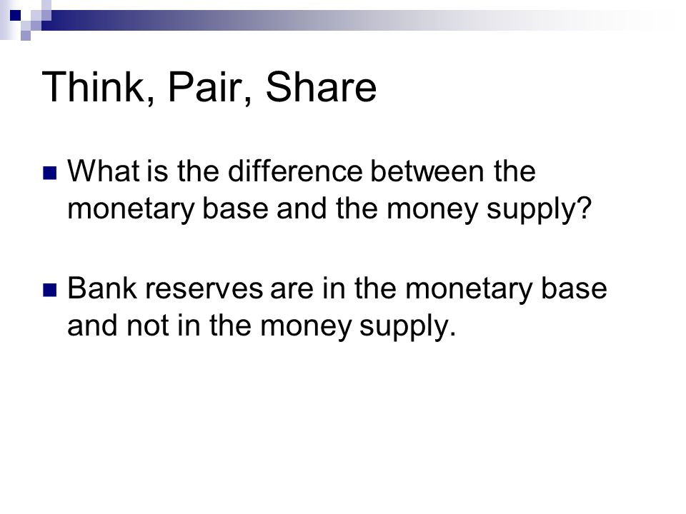 relationship between money base and supply