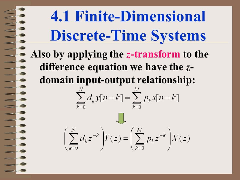 discrete time systems in the time domain experiment The ct domain conceptually models time as a continuum it exploits thesuperdense timemodel in ptolemy ii to process signals with discontinuities, signals that mix discrete.