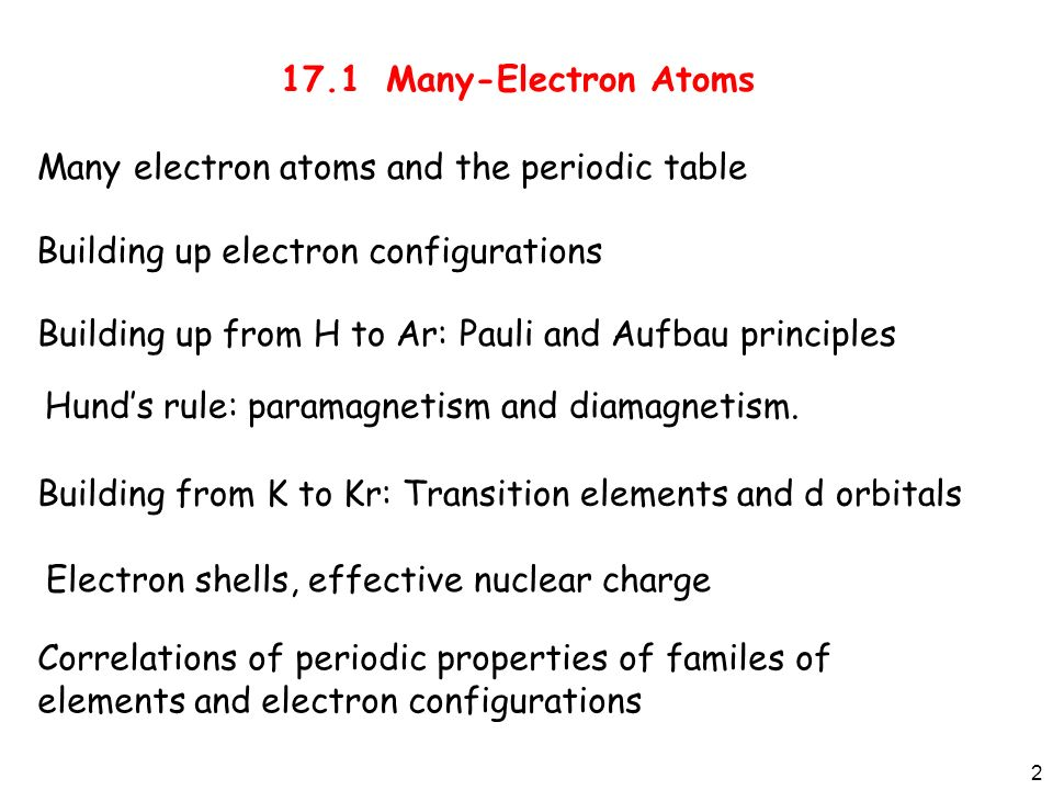 Chapter 17 many electron atoms and chemical bonding ppt video 171 many electron atoms many electron atoms and the periodic table building up electron urtaz Gallery