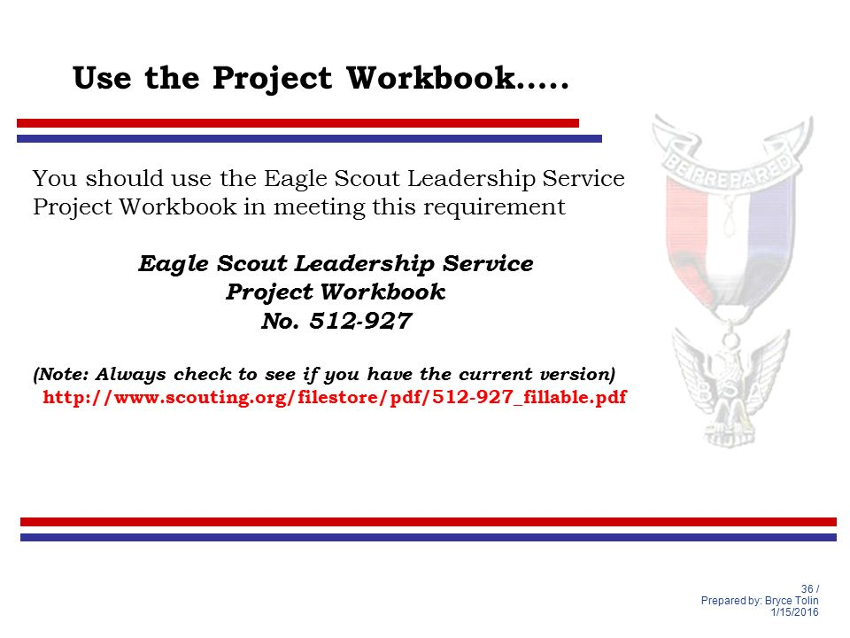 Life to Eagle Seminar Lighthouse District South Florida Council – Eagle Scout Requirements Worksheet