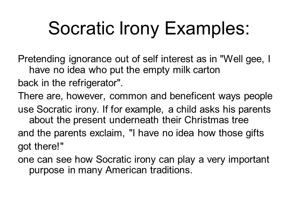 socratic irony is a technique philosophy essay What is the socratic method excerpted from socrates caf a socrates scholar and professor of philosophy at on the concept of irony in socrates.