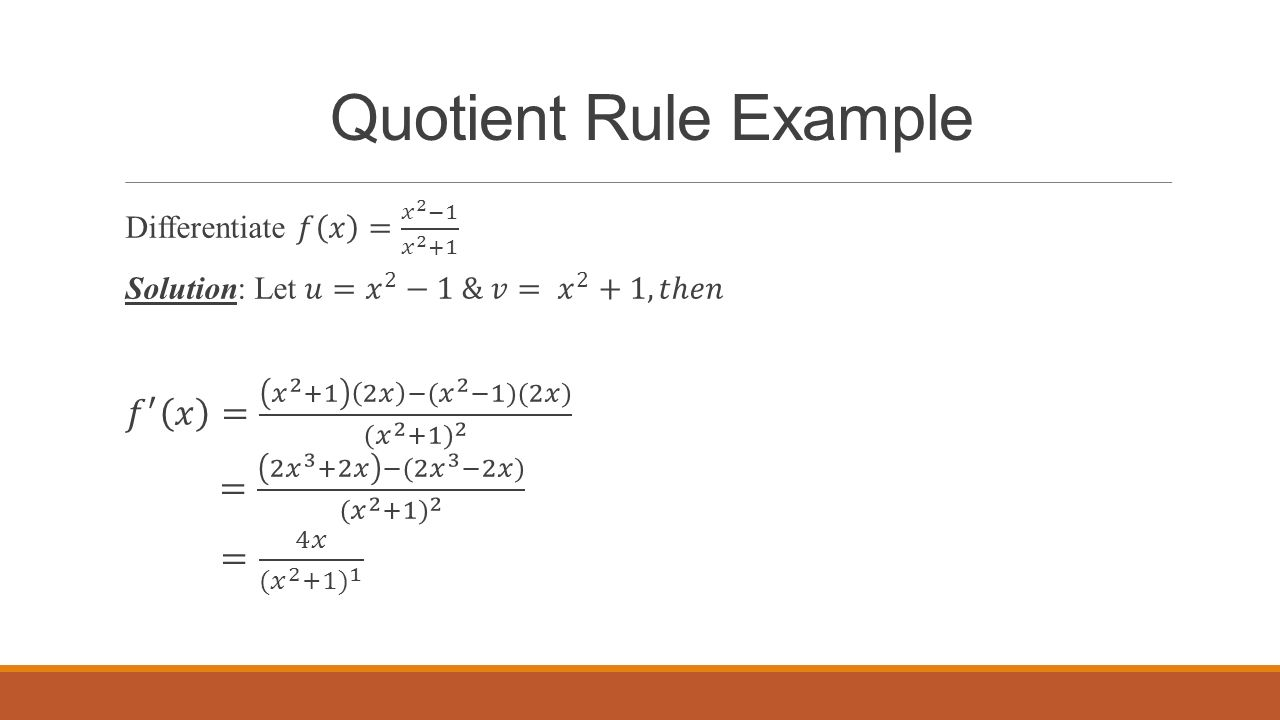 The quotient rule  explanation and examples  MathBootCamps
