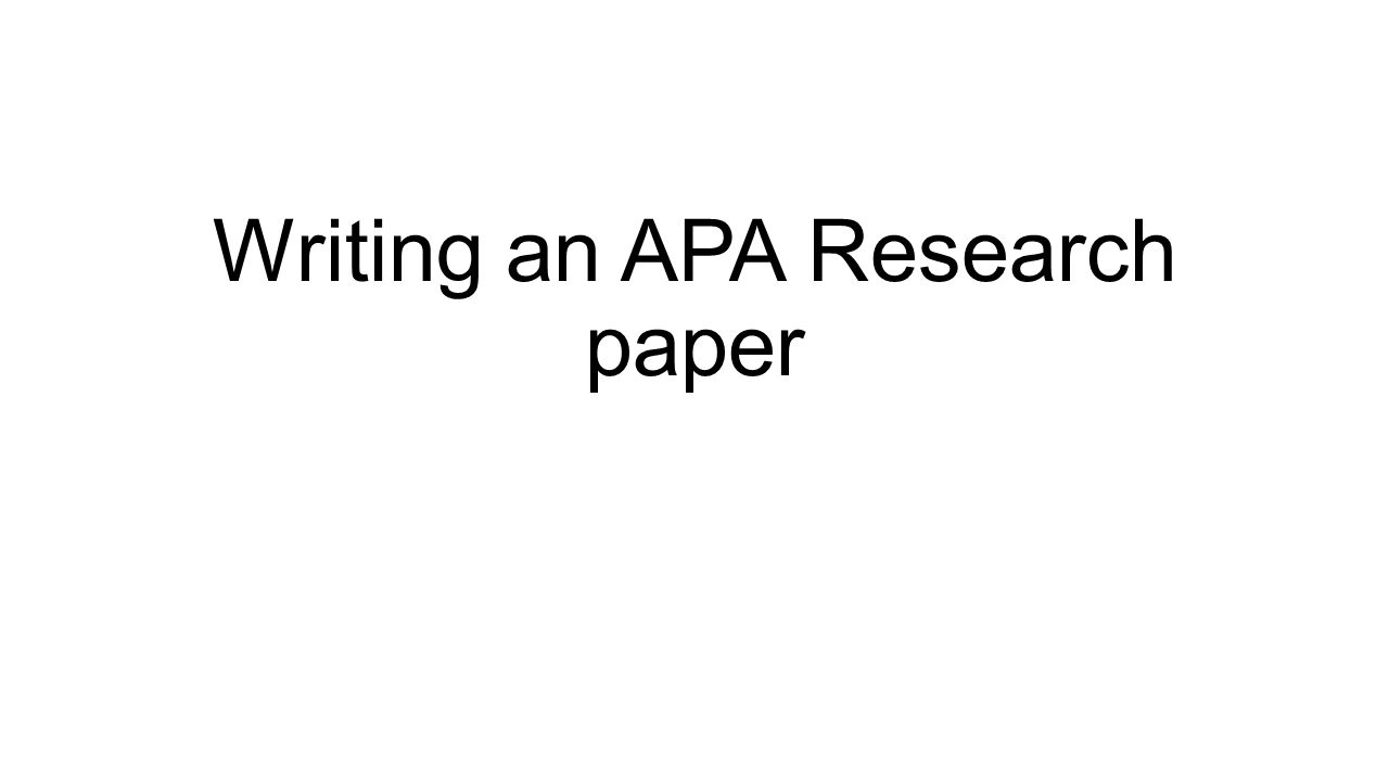 english research paper heading Formatting a research paper do not use a period after your title or after any heading in the paper (eg, works cited) begin your text on a new.