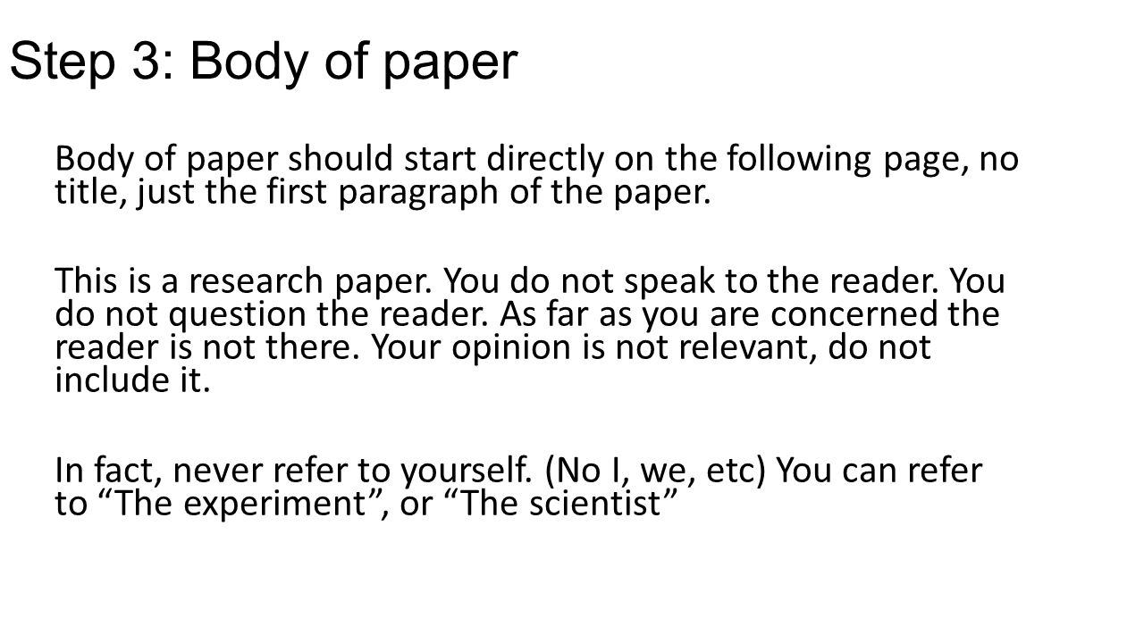 How do i start writing a research paper