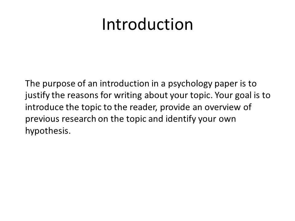 guidelines for writing a psychology research paper How to write a research report in psychology your literature review should be appropriate to the kind of paper you are writing if it is a thesis.