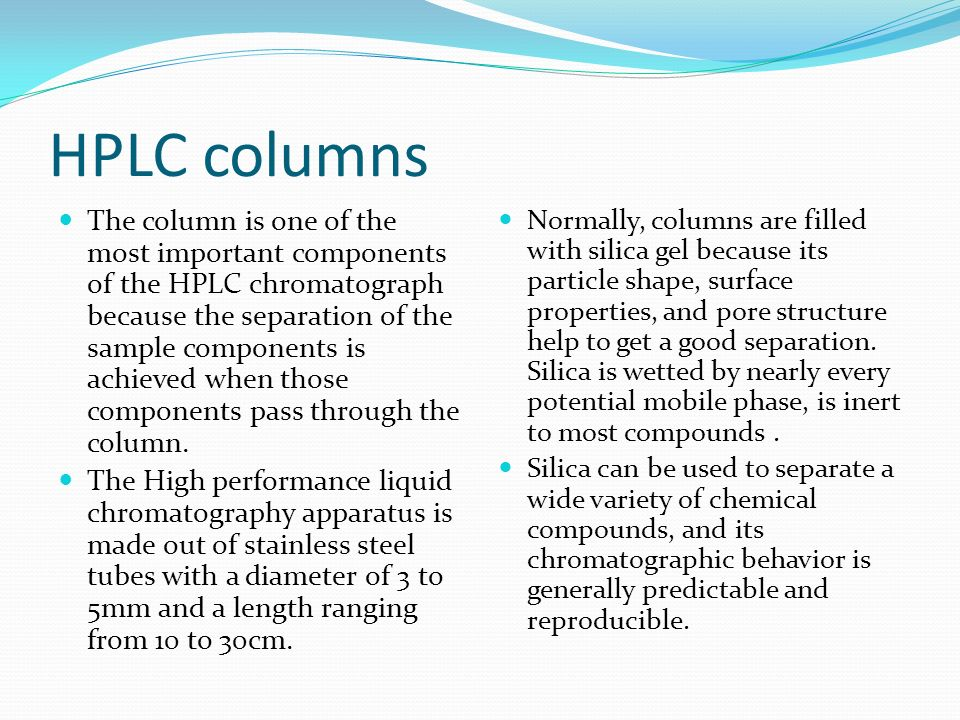 High Performance Liquid Chromatography Ppt Download