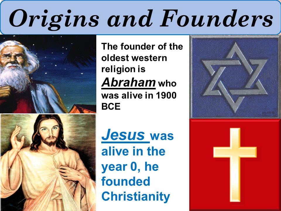 Origins and Founders To understand that the six major ...