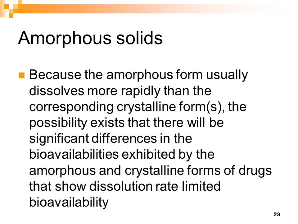 Bioavailability - physicochemical and dosage form factors - ppt ...