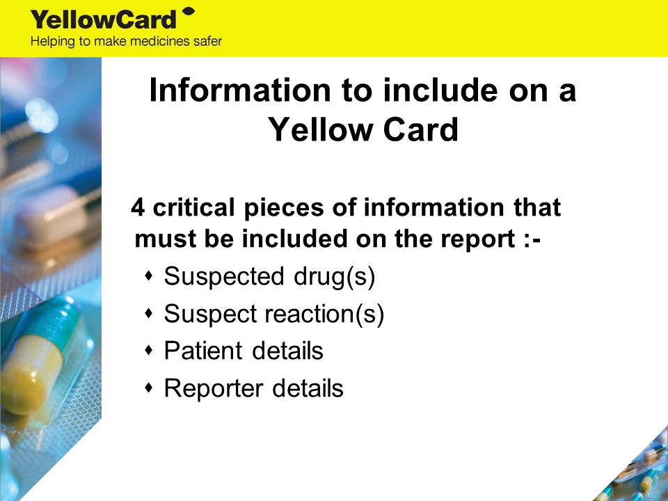 the yellow card scheme reporting adverse reactions