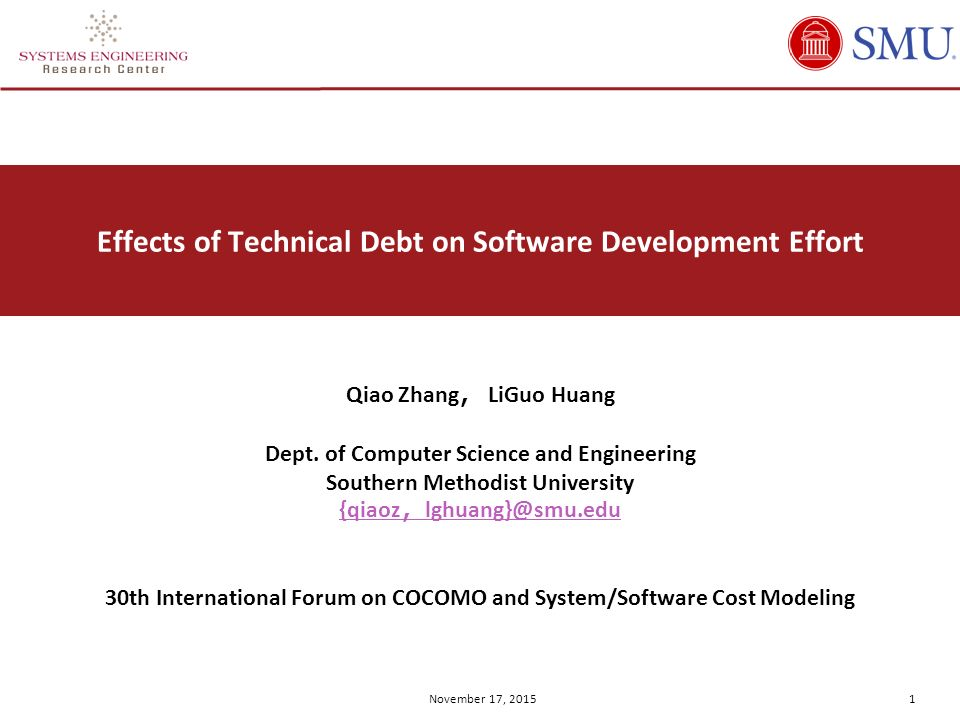 Effects of Technical Debt on Software Development Effort