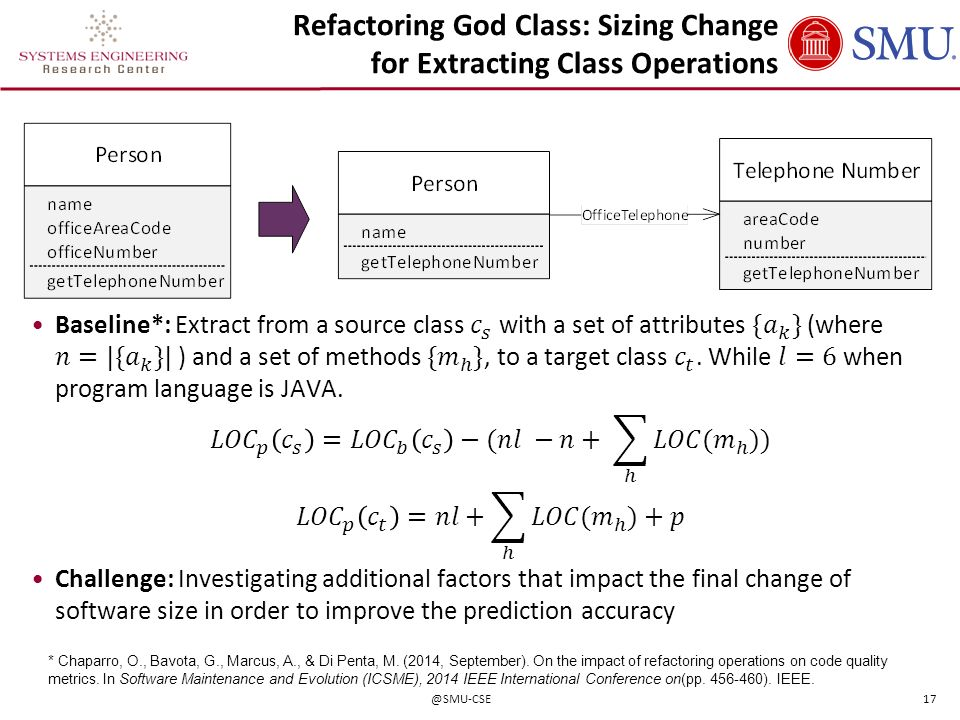 Refactoring God Class: Sizing Change for Extracting Class Operations
