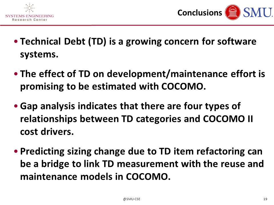 Technical Debt (TD) is a growing concern for software systems.