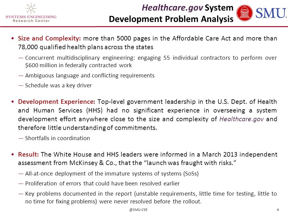 Healthcare.gov System Development Problem Analysis