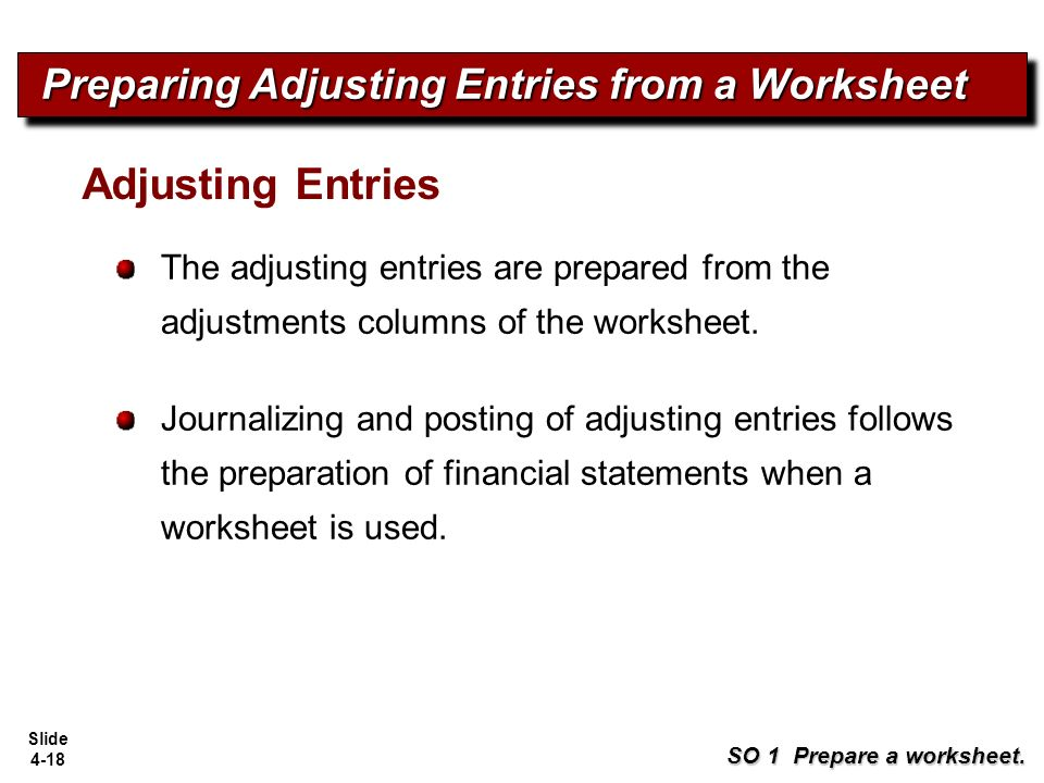 adjusting entries posting and preparing an Journalizing and posting adjusting entries at the end of the accounting period the adjusting entries appearing in the work sheet are recorded in the journal and posted to the ledger bringing to the ledger into agreement with the data reported on the profit and loss account and balance sheet.